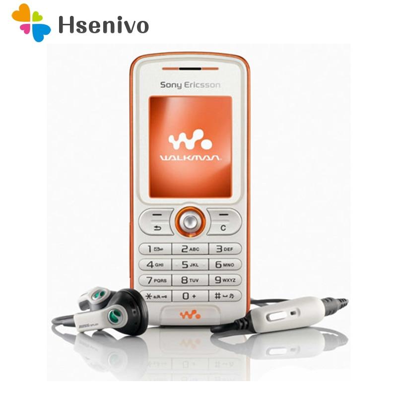W200 100% Original Unlocked Sony Ericsson W220i Mobile Phone 1.8' 2G FM Radio Unlocked Cell Phone Free Shipping