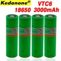 100% original nuevo 18650 batería recargable de iones de litio 3000 mAh 3,7 V para Sony VTC6 30A cigarrillo electrónico linterna batería