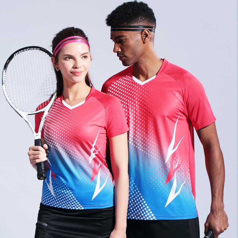 Shirts & Tops 2019 New sports badminton Tops mens Tennis Racquet Sport T  Shirts Sporting Goods