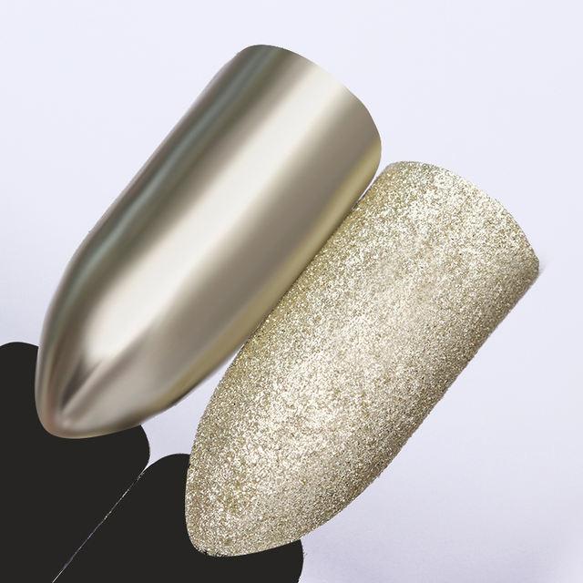 Champagne Silver Nail Glitter Powder
