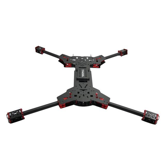 H4 1.6 MM Placa de 680 MM Distancia Entre Ejes Doble C Hebilla Plegable de Fibra de Carbono Quadcopter con Cardán Colgando de Montaje (Sin aterrizaje)