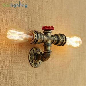 Image 2 - Aplique rústico Industrial de estilo Edison E27, lámpara de pared, accesorio de montaje