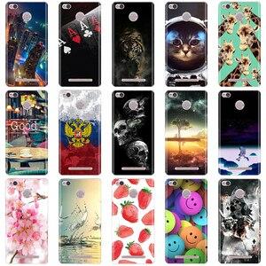 Image 1 - Phone Cases For Xiaomi Redmi 3 Pro 3s Redmi 3s Cover 3D Silicon Phone Back Cover for Xiaomi Redmi 3 Pro Case Redmi 3 S Pro Case