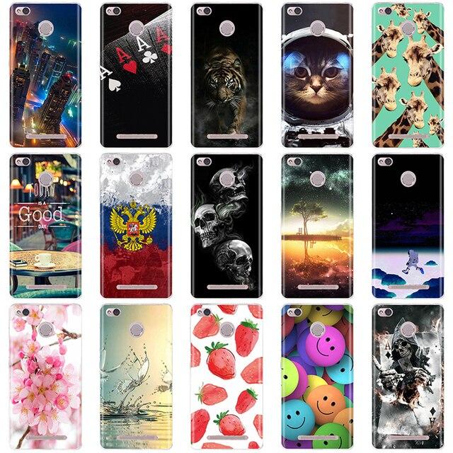 Phone Cases For Xiaomi Redmi 3 Pro 3s Redmi 3s Cover 3D Silicon Phone Back Cover for Xiaomi Redmi 3 Pro Case Redmi 3 S Pro Case