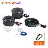 KingCamp уличная посуда походная кухонная посуда набор складных горшков для пикника для 3 4 человек