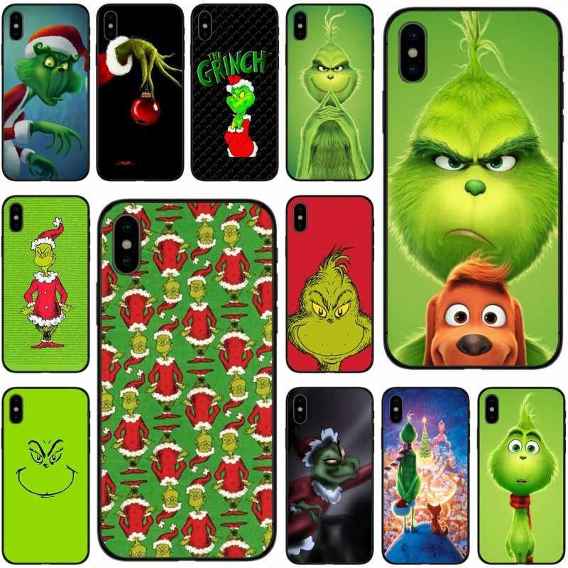 Как зеленый ofMonster Grinch палантин Рождество черный ТПУ чехол для iPhone X XS XR Max для iPhone 5 5S 5C SE 6 7 8 plus