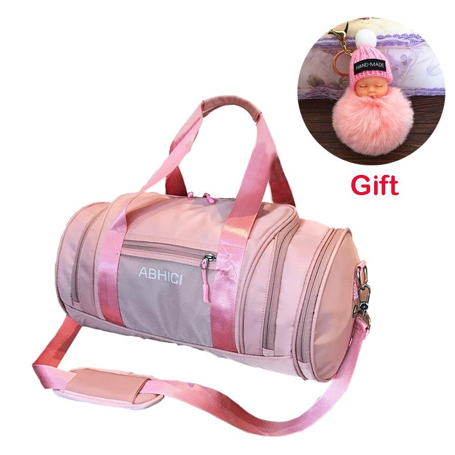 f4c38019a807 2019 Pink Black Sport Gym Bag With Shoes Storage Woman Fitness Shoulder Bags  Girls Travel Handbag