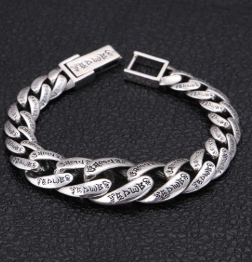 New arrival 100% real silver bracelet man breacelets buddhism 20cm