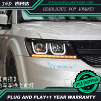 High Quality Car Styling For Dodge Journey 2009 2015 Headlights LED Headlight DRL Lens Double Beam