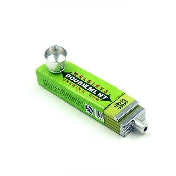Fashion Chewing Gum Shape Rasta  Metal Tobacco Pipes Smoking Pipe Rasta Novelty Items Herb Tobacco Pipes 1