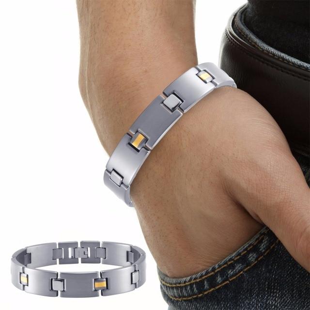 HTB1aszJRVXXXXbAapXXq6xXFXXXy - RainSo 2019 Fashion Titanium Bracelets & Bangles For Women Men Trendy Simple Generous Jewelry OTB-216  charm bracelets
