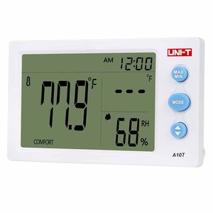 Image 5 - UNI T A10T digital lcd thermometer Humidity meter clock hygrometer of Weather Station Tester With Alarm Clock Function