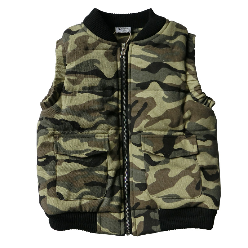 Children Clothing Thicker Vest Boy 2018 New Winter Kids Cotton Camouflage Vest Kids Clothes Warm Padded Cotton Waistcoat 6-14T цены