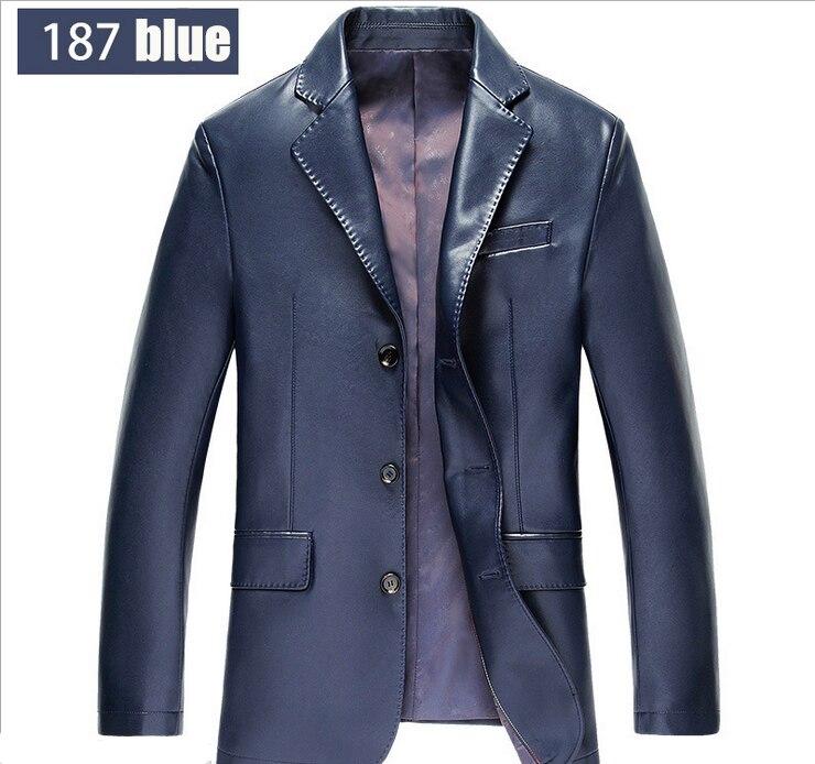 2017 Brand New Spring Casual Blazer Men Slim Fit Mens Blazer Jacket Leather Suit Men Top Quality