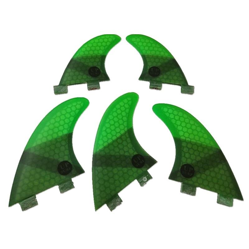4Pcs / 5st FCS Fins G5 med GL Fin Honeycomb Fiberglass Fins G5 + GL Grön Svart Röd Blå FCS Quilhas Fins