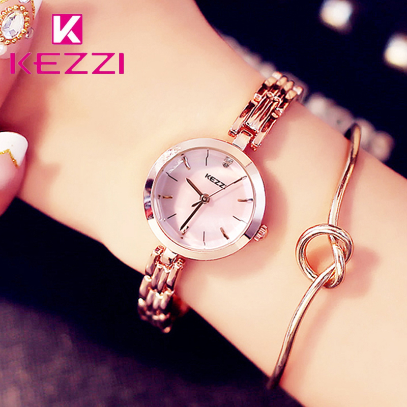 Kezzi Brand Luxury Woman Dress Watch Shell Dial Waterproof Quartz Wristwatches Stainless Steel Bracelet Watches Montre Femme все цены