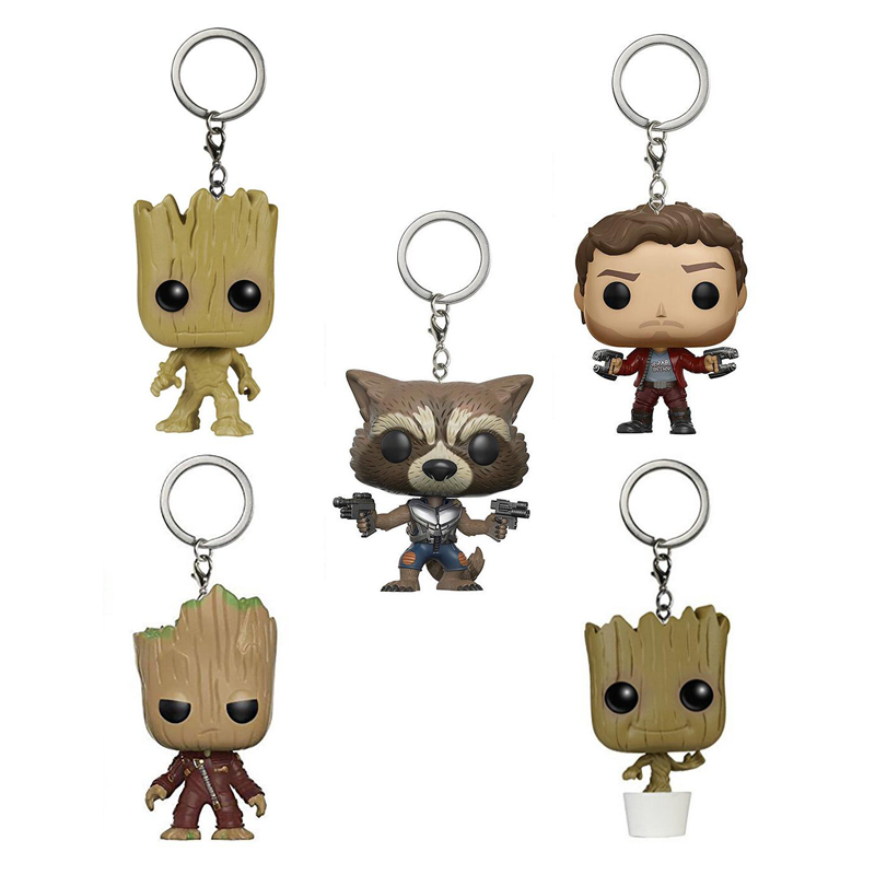 Guardians of the Galaxy 2 Character Keychain Figure Collection Model Toys Key Chain Toys with Retail Box