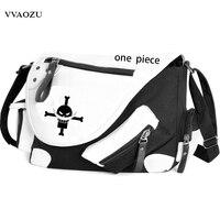 Hot Anime One Piece Trafalgar Law Fashion Unisex Canvas Crossbody Bag Schoolbag Messenger Bag