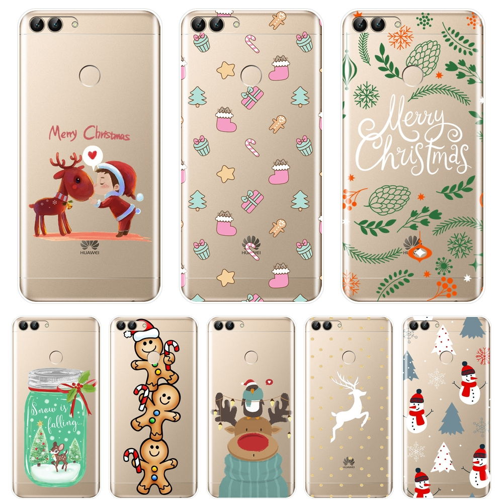 Back Cover For Huawei P9 Lite Mini Silicone Soft Christmas <font><b>Case</b></font> For Huawei P8 P9 P10 P20 Lite Pro Plus 2017 P Smart <font><b>Phone</b></font> <font><b>Case</b></font> image