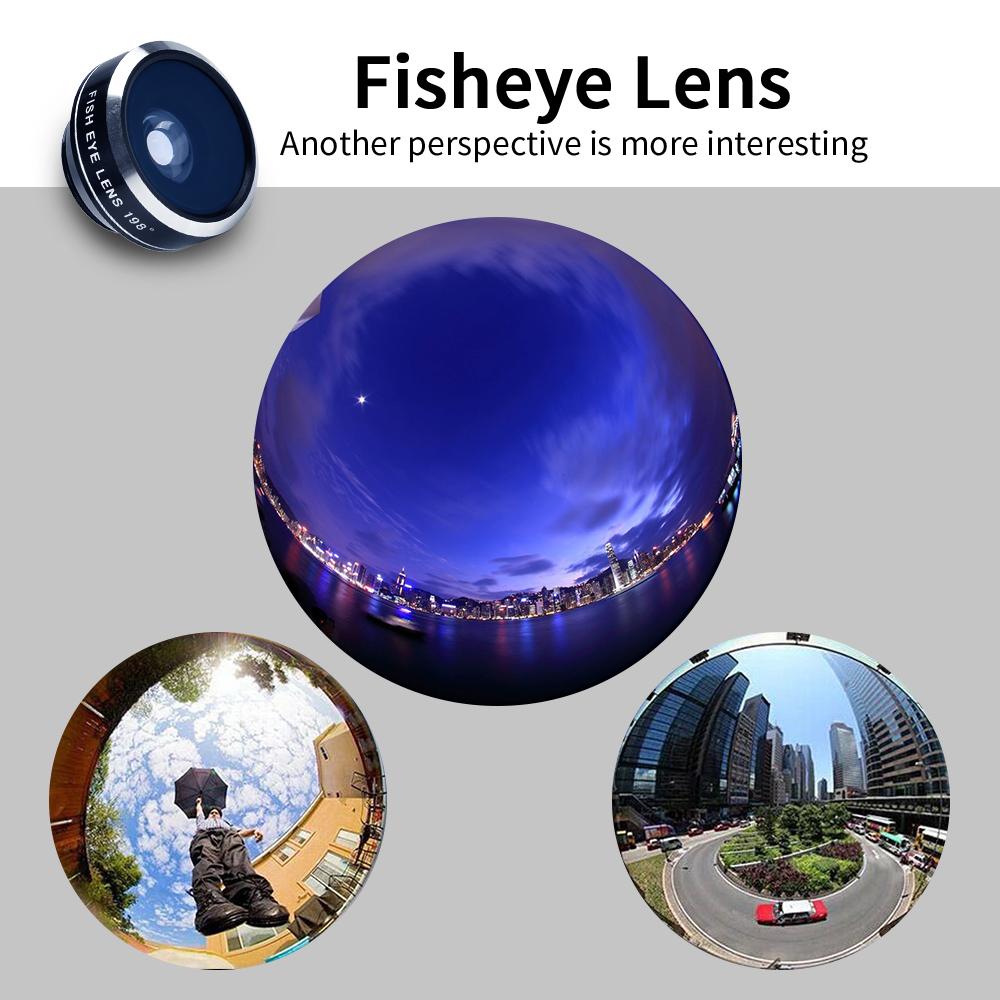 APEXEL 6IN1 phone camera lens 12X Telescope telephoto Zoom+fisheye wide angle macro Lens kit For iPhone7 6S plus Samsung s8 4
