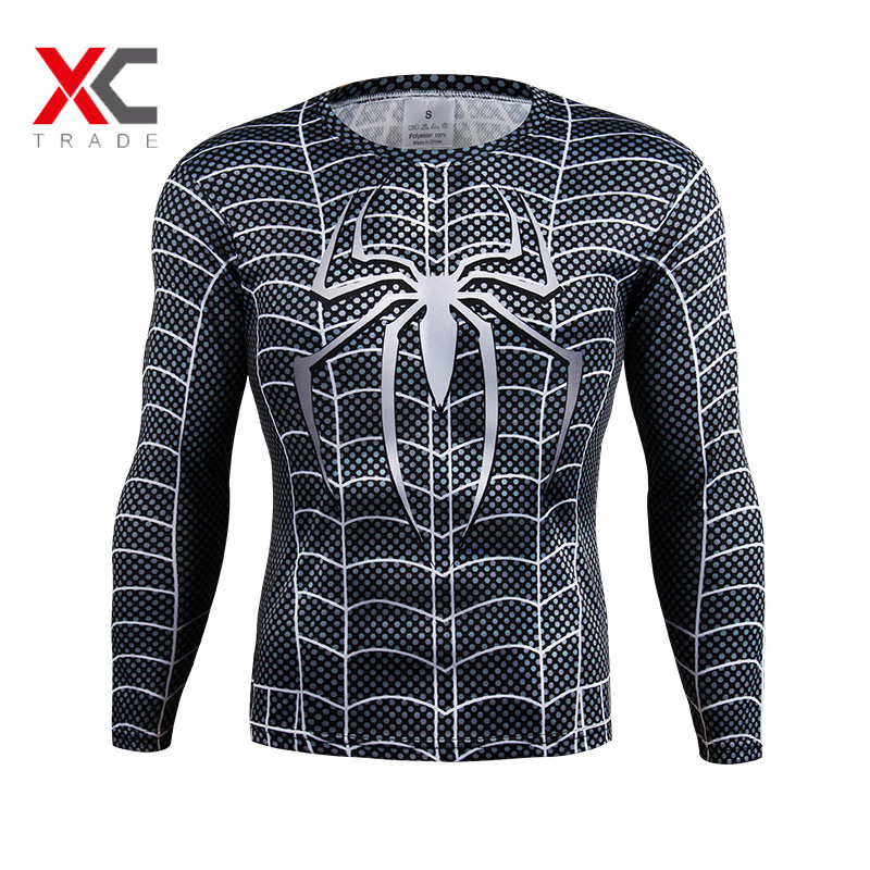Marvel super heroes avenger t shirt men compression armour for Compressed promotional t shirts