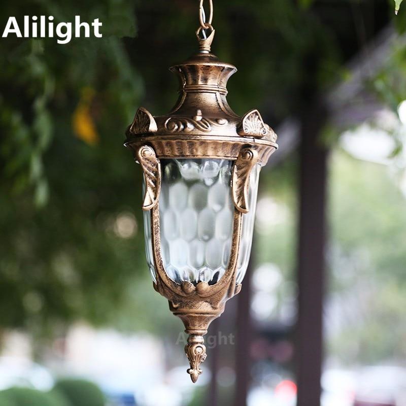 Outdoor Lighting Waterproof Courtyard Garden Post Column Headlight European Landscape Lighting