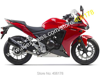 Cheap For CBR500R 2013 2014 CBR 500R 13 14 CBR Red Bodyworks ABS Motorcycle Fairings kit (Injection molding)