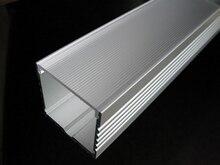 アルミプロファイル大深い正方形ledストリップ照明付きクリア、オパールレンズカバー、利用できるための長さ1〜3メートル送料無料