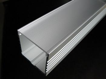 Hliníkový profil Velké hluboké čtvercové LED pásové osvětlení s průhledným krytem čočky Opal, k dispozici pro délku 1-3m Doprava zdarma