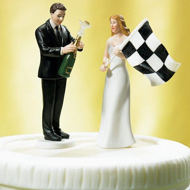 Bride Groom F1 Victory Champagne Beer Celebration Wedding Cake ...