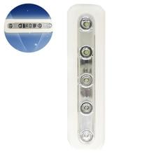 1pc Push Touch Wall Light LED Night Light 5LED Home Lighting Self Stick Closet Lamp Wall