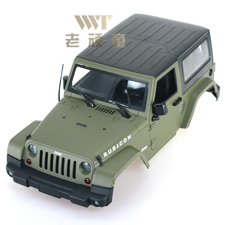 P0003 1/10 aspecto hermoso Wrangler coche shell puerta alta calidad delicado Wrangler D90 shell SCX10 escalada envío gratis