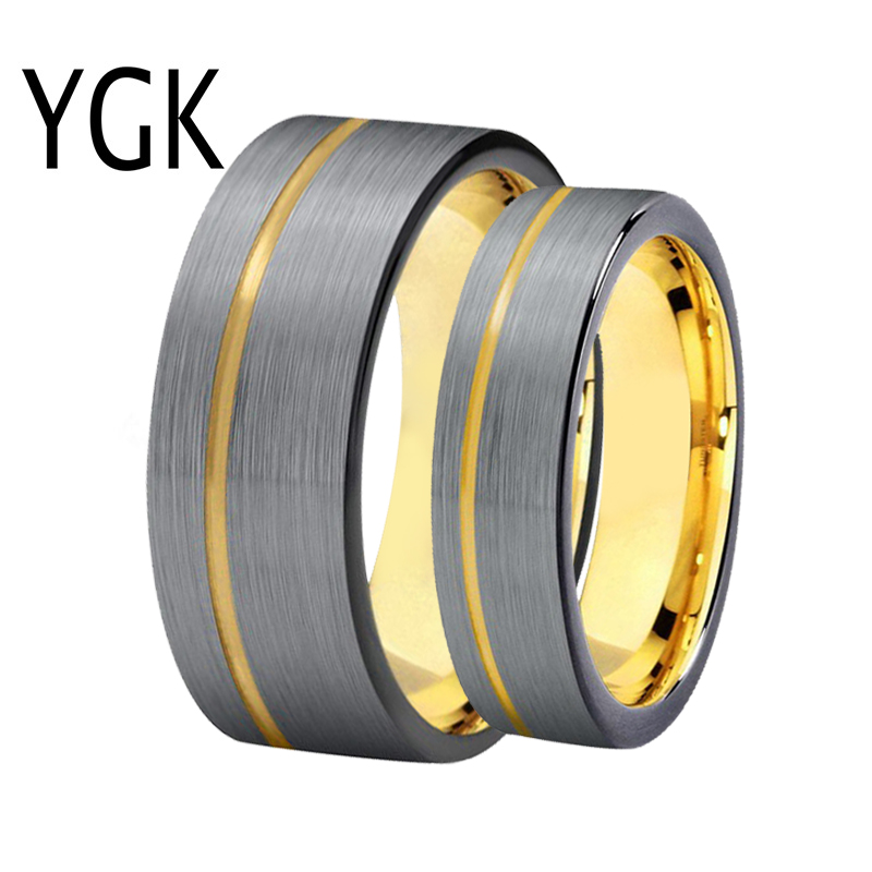 Classic Wedding Ring for Men Women Matte Silver/Golden/Black Mixed Colors Ring 100% Tungsten Ring Engagement Anniversary Ring светящиеся палочки браслеты смехторг 100 штук
