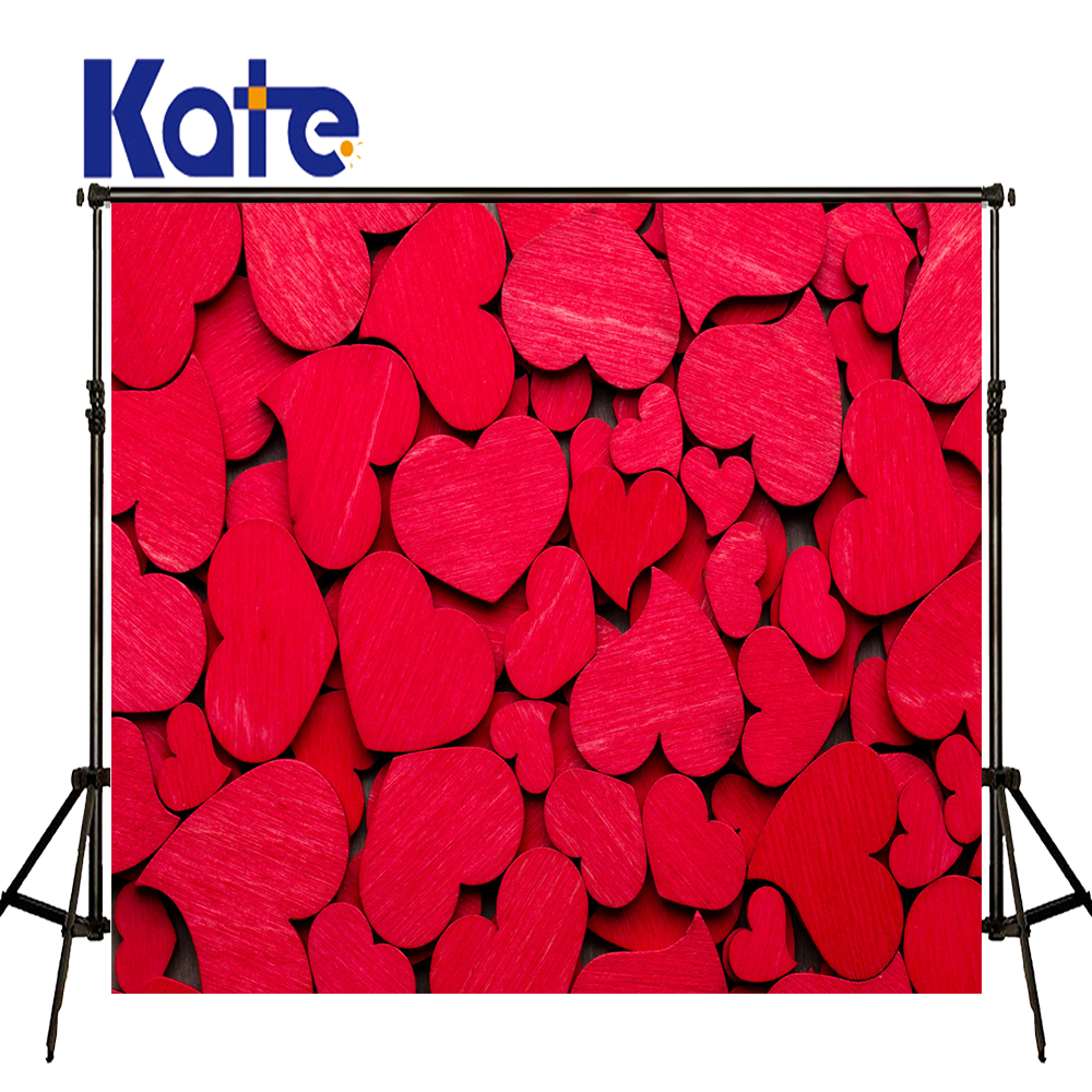 KATE Valentine'S Day Backdrop Photography Backdrops Red Love Background Romance Wedding Backdrops for Children Photo Studio 8x10ft valentine s day photography pink love heart shape adult portrait backdrop d 7324