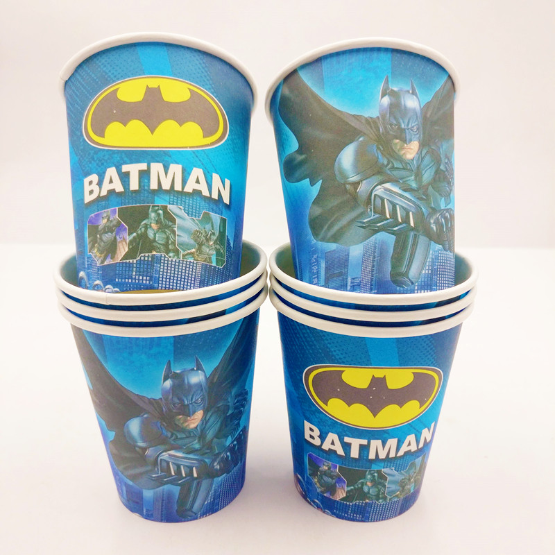 10pcs Incredible Batman Themed Cup Supplies Party Favor Ideas 1st Birthday Invitations Decorations Plastic Tableware Cups In Disposable