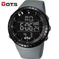 OTS LED Digital Hombres Reloj Deportivo 50 M Profesional A Prueba de agua Horas de Cuarzo Dial Grande Luminosa Militar Relojes de Pulsera 2016 de La Moda