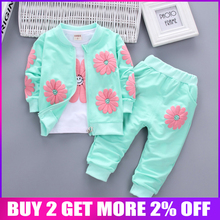 BibiCola baby girls clothing set children tracksuits for girls kids casual sport suits spring autumn girls clothing set