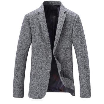 2019 Spring High Quality Blazer Men Casual Male Classic Gray Blazer Men's Fashion Slim Fit Coat Business Jacket Heren Colberts