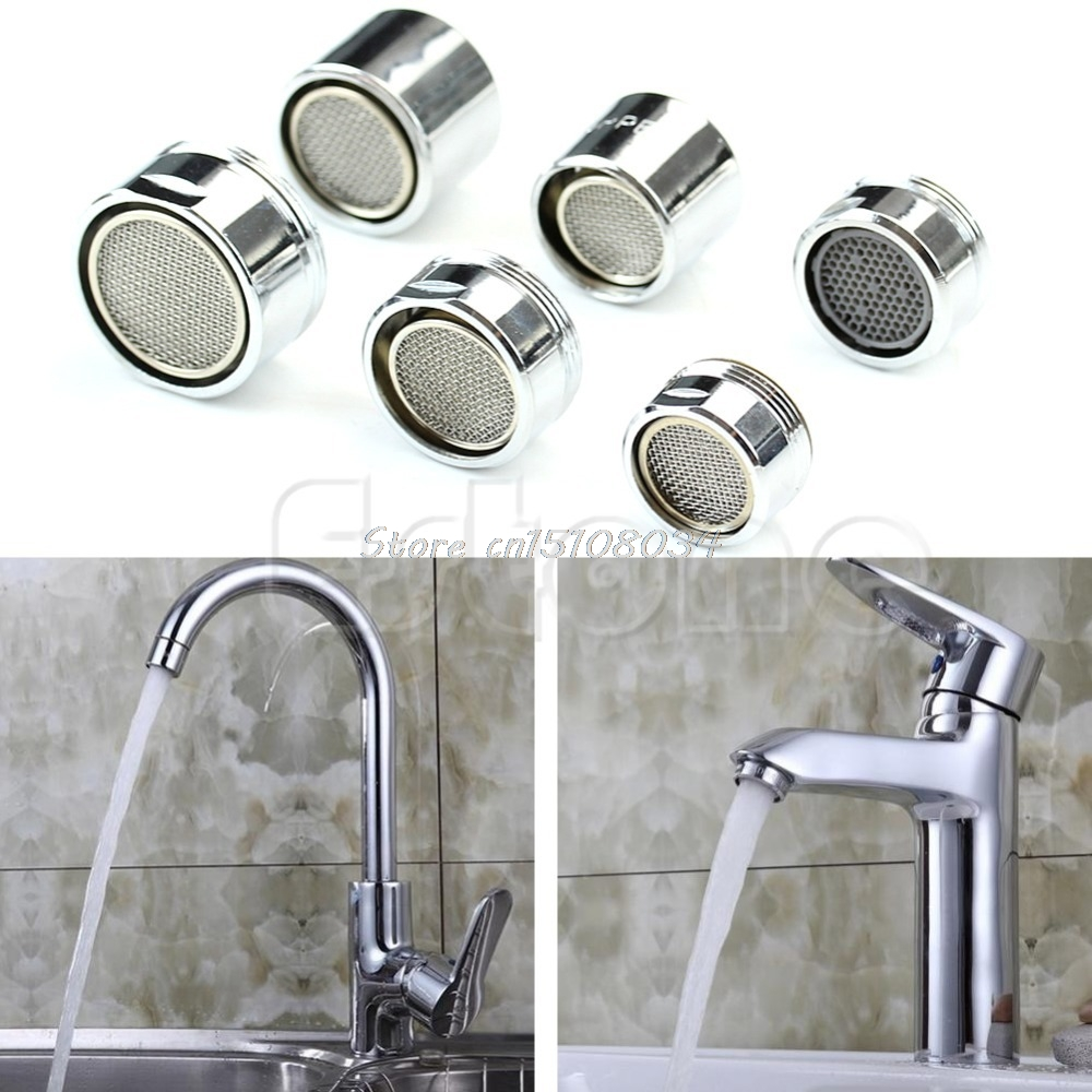 Kitchen Faucet SPRAYER-FILTER Water-Saving Nozzle Tap-Aerator Chrome Drop-Ship S18 Male/female