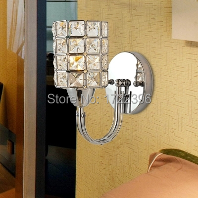 ФОТО Crystal Led Wall Light, 1 Lights,E14,Modern Incision Electroplate Tempering For Home Wall Sconce,Bulb Included