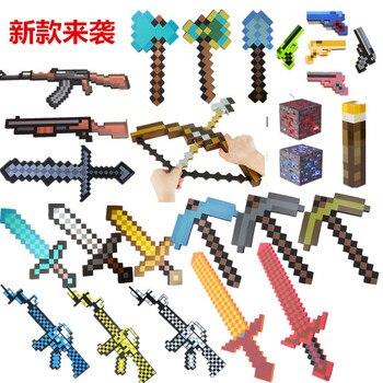 Игрушки Minecraft Меч Модель из этиленвинилацетата игрушки; фигурки героев игрушки для детей Brinquedos подарки