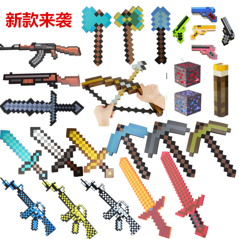 Minecraft Toys Minecraft Sword EVA Model Toys Action Figures Toys for Kids Brinquedos Gifts 4pcs rhodium plated carbon fiber xlr plug connector hifi audio 3pin m