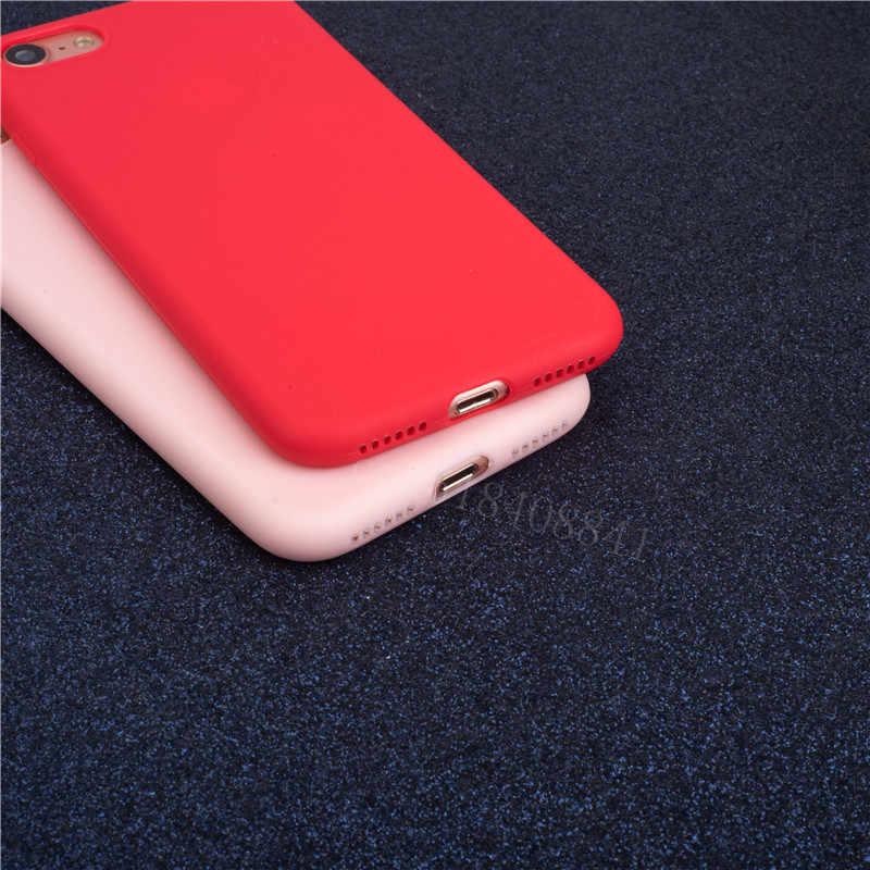 Lüks ince yumuşak renk telefon iphone için kılıf 7 8 6 6s artı 5 5s SE durumda silikon arka kapak çapa iPhone X Xs 11 Pro Max XR