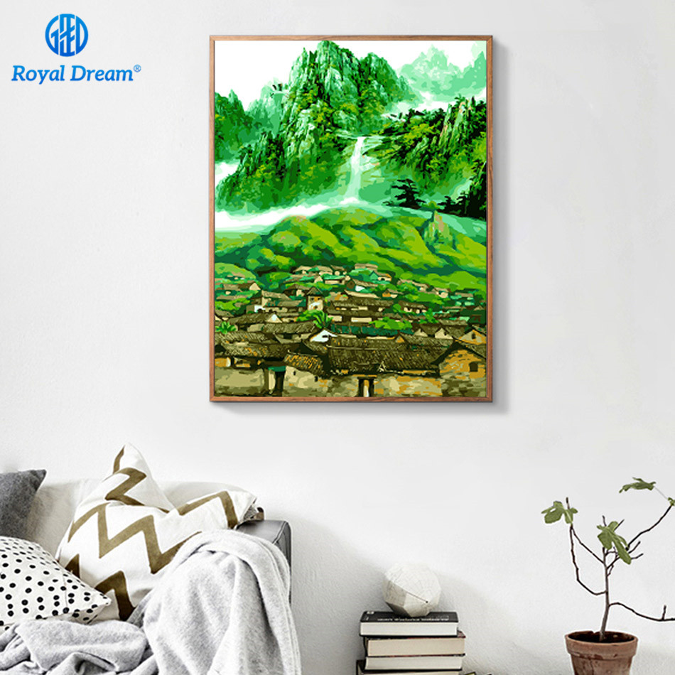 Green Painting By Numbers Frameworks Coloring by Numbers Pictures ...