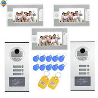 1 Set Home Use 2 Camera To 3 Display Video Doorphone RFID Card Unlock Function