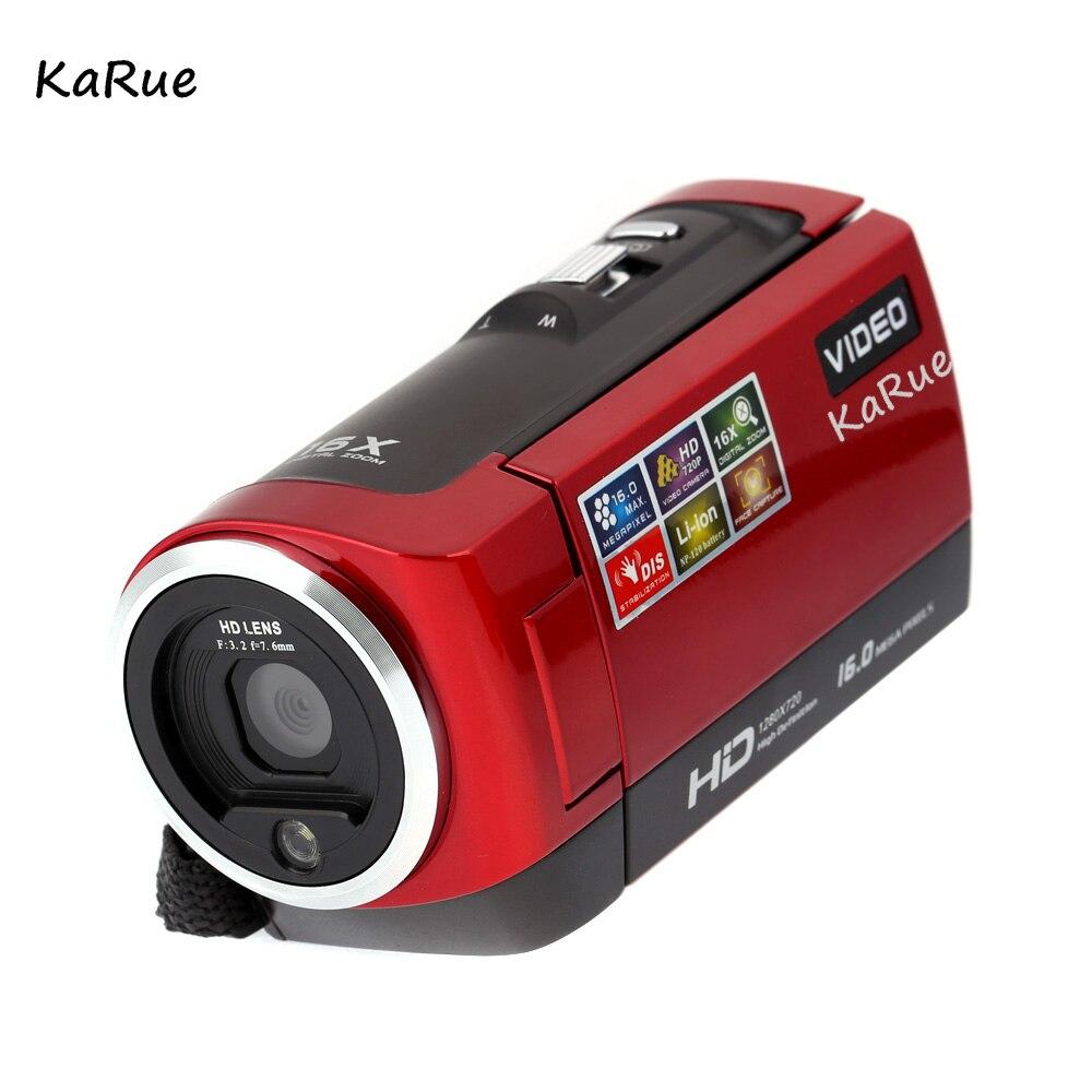 karue Mini Portable 720P 30FPS HD Digital Camera 2.7'' LCD Screen 16MP 16X Digital Zoom Anti-shake Video Recorder DV Camcorder