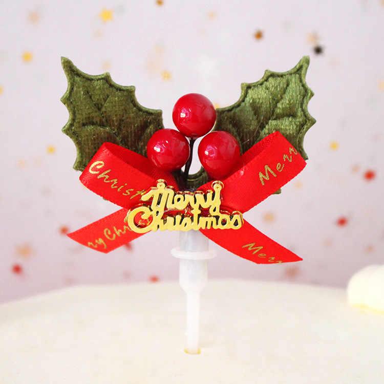 Torta di natale Topper Babbo natale Ghirlanda Cupcake Topper di Natale Del Partito Della Decorazione per Accessori Per La Casa Decorazione Della Torta 32 Stili