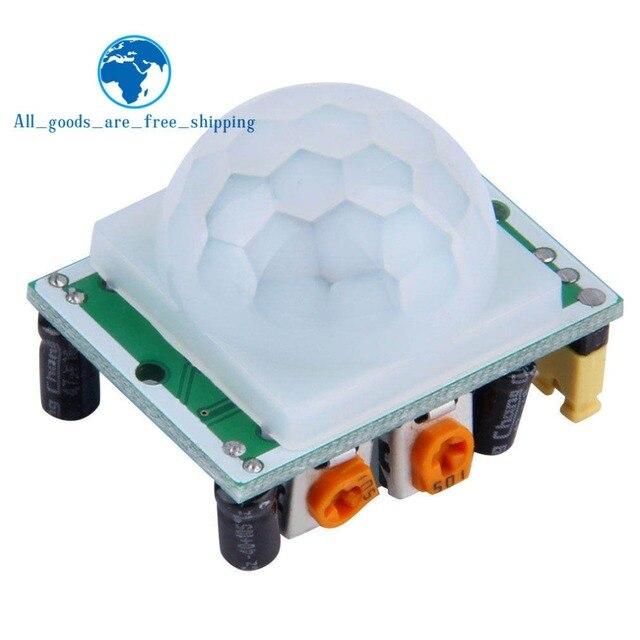TZT 1 pièces HC-SR501 ajuster IR pyroélectrique infrarouge PIR détecteur de mouvement Module pour arduino pour framboise pi kits