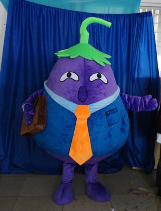 Взрослых фиолетовый баклажан талисмана растительное пользовательские Герой мультфильма косплей баклажаны семья