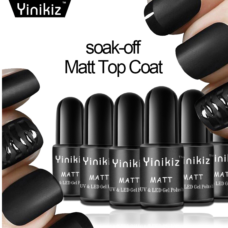 Matte Black Gel Nail Polish: Yinikiz Puple Black Color Matte Top Gel Nail Polish
